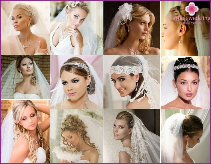 Wedding image of 2015: options hairstyles with veil for long shag
