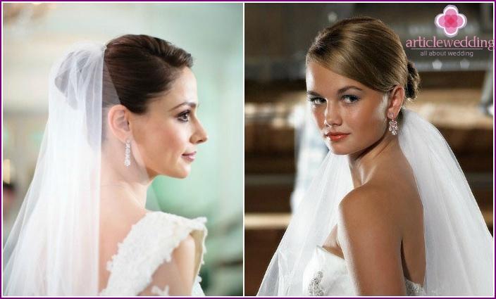 Photo: Elegant beam at a wedding with a bridal veil