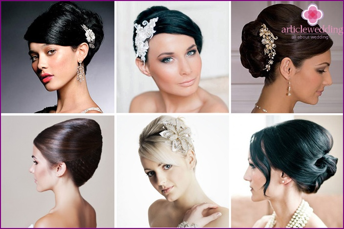Hairstyle for wedding shell