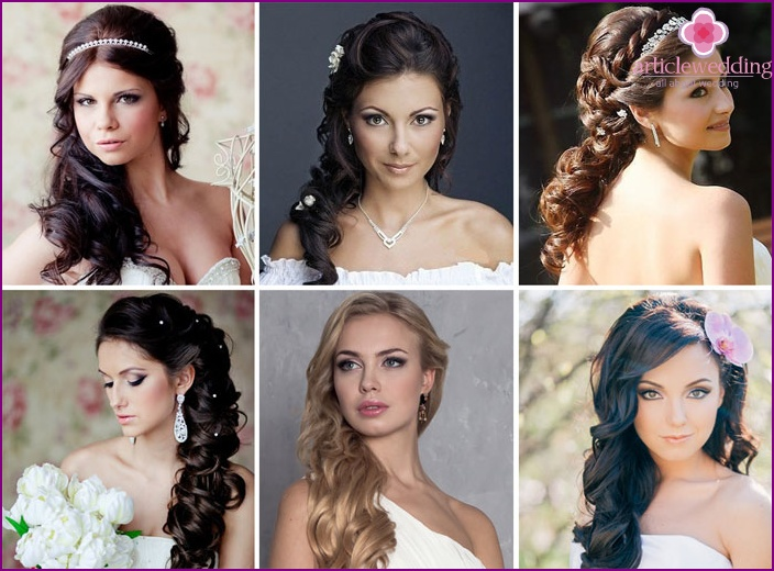 Greek wedding hairstyle with curls