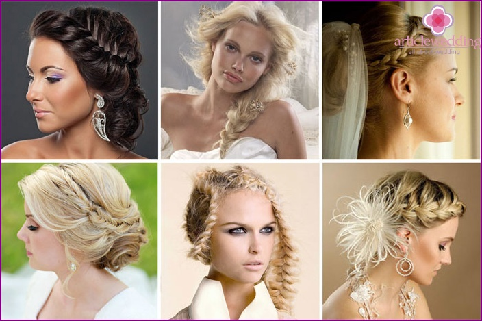 Original styling with braided brides
