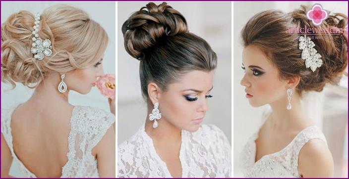 Прически на короткие волосы с челкой на свадьбу к подруге