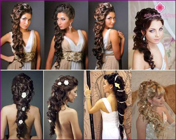 Greek Wedding locks styling with patch