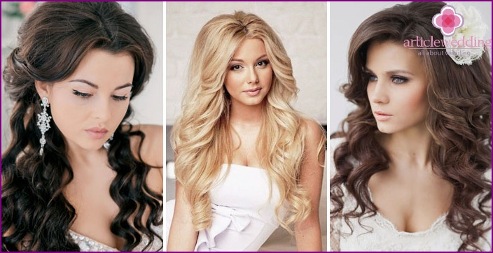 Прическа на длинные волосы с кудрями для девочки своими руками