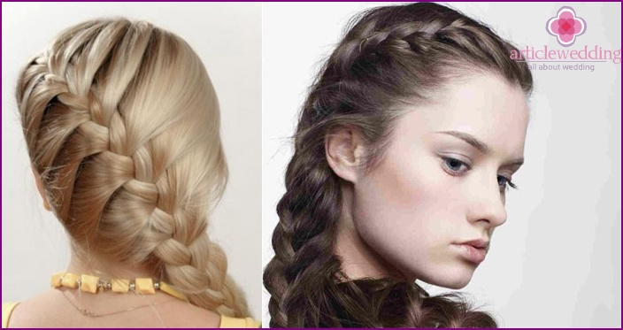 French braid on one side