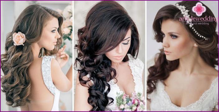 Прическа на средние волосы с фото с кудрями