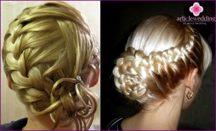 Photo: hairstyle with elements of French braiding