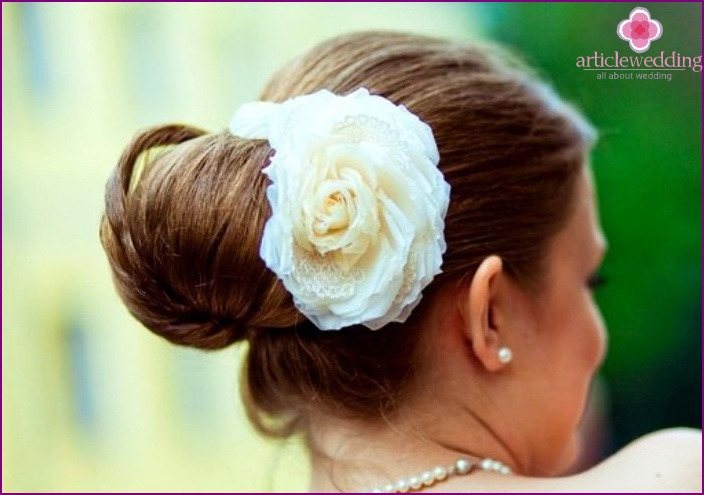 Beautifully decorated beam rose on wedding