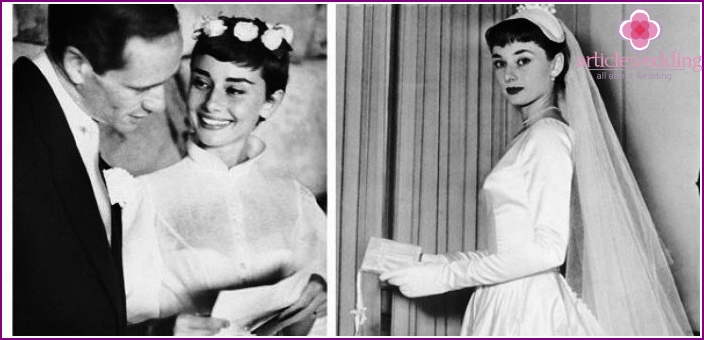 Wedding hairstyle with veil - Audrey Hepburn