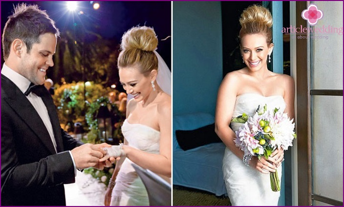 Wedding hairstyles hollywood stars examples with photos simplicity wedding hairstyles hilary duff junglespirit Images