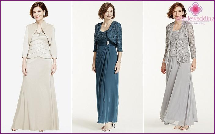 Elegant evening dress for mother of the bride