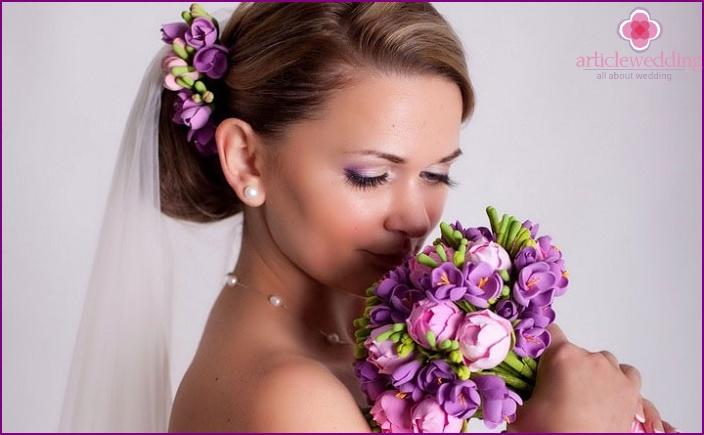 Clay bridal bouquet