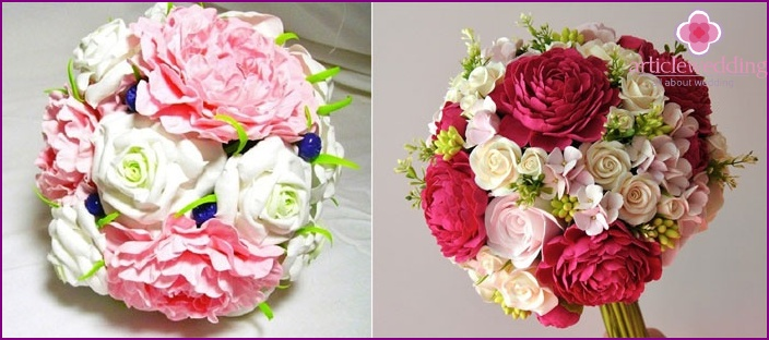Colorful clay bouquet