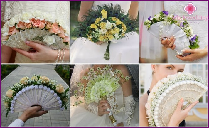 Wedding accessories in the form of a fan