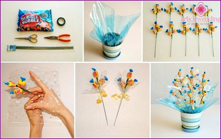 Master-class on making candy gift