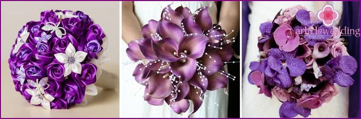 lila blommor bröllop