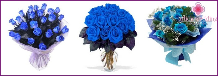 Wedding Bouquet: Blue Roses