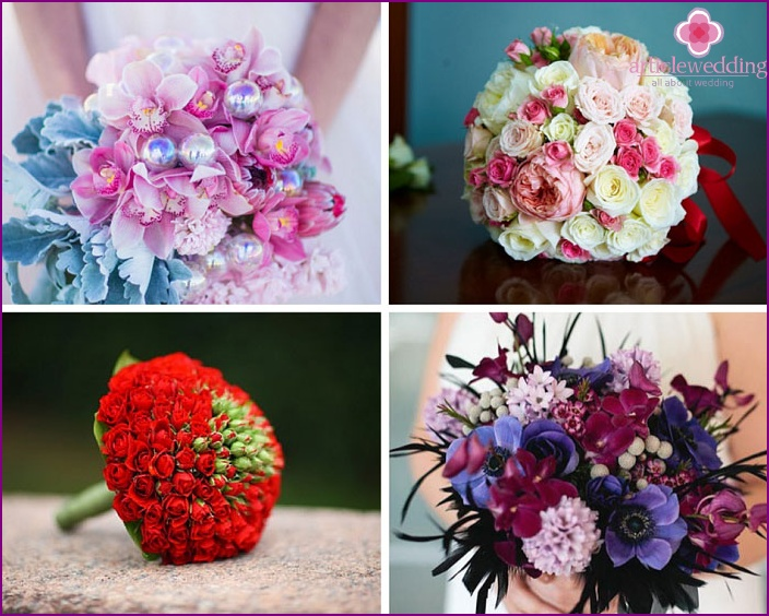 Bouquets for the bride's own hands