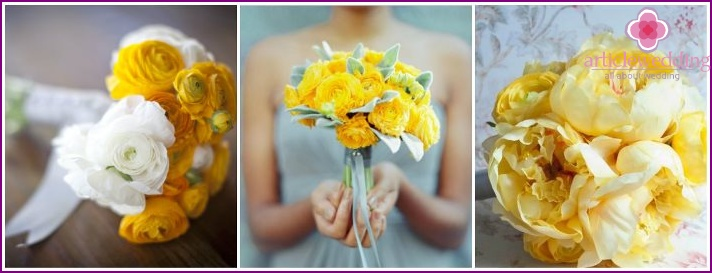 Gentle ranunkulyus for wedding flower compositions