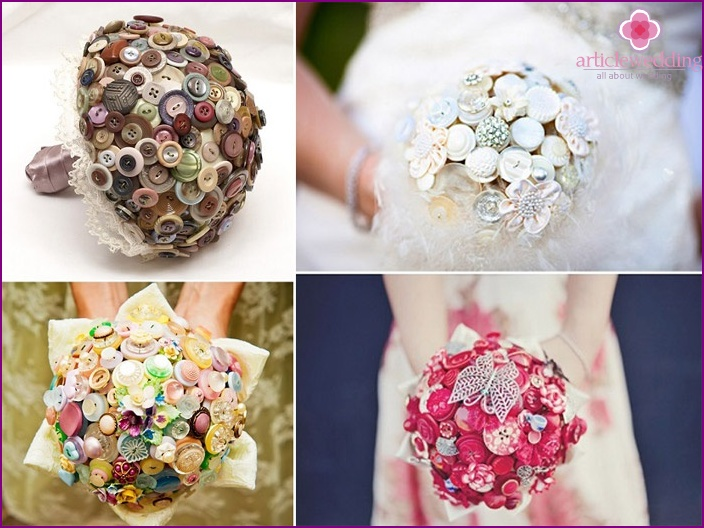 Original creative bouquets for brides