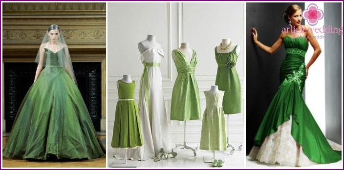 Festive attire green colors for brides