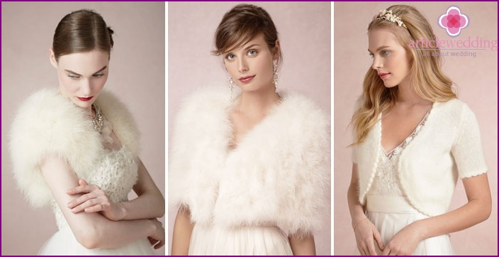 Accessories for the winter bride dress