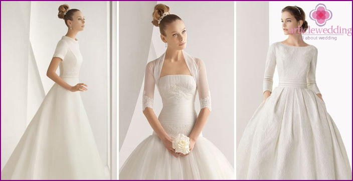 The new collection of winter wedding dresses