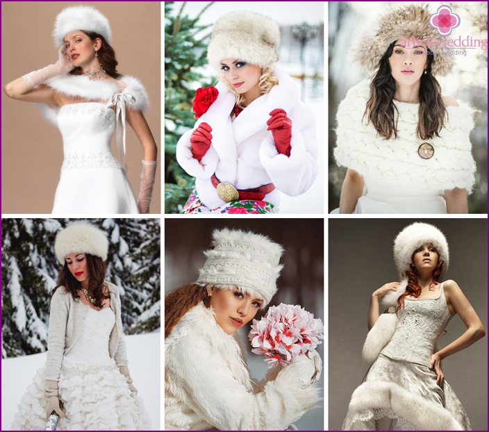 Alternative hats for winter wedding