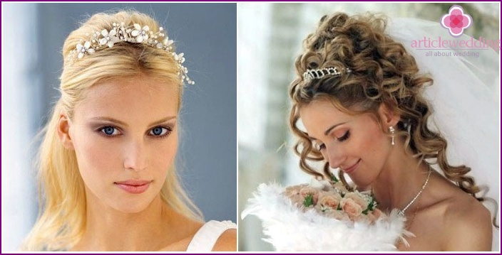 Tiara - an elegant accessory for hairstyles in Greek
