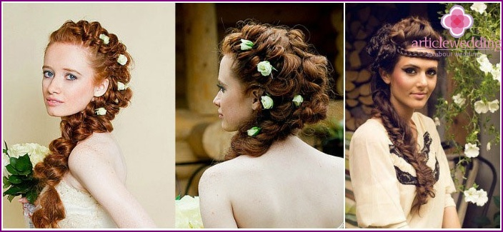 Hairstyles in the Greek style: beautiful weaving