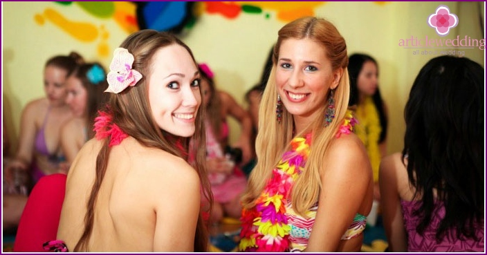 Pre-wedding hen party in Hawaiian style
