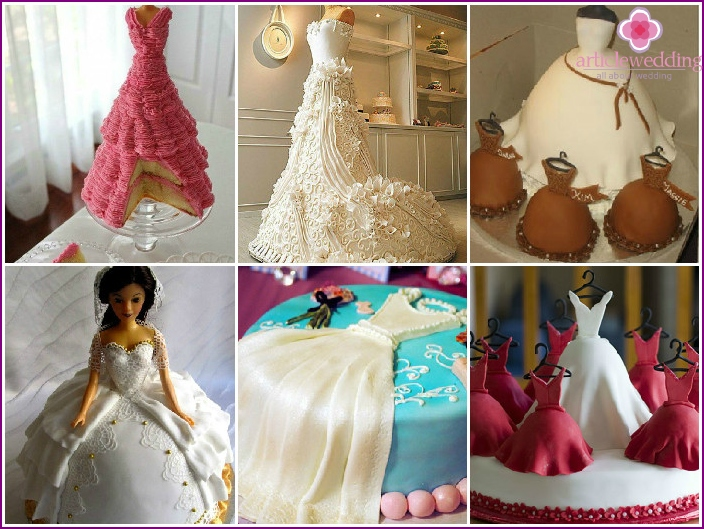 Cake with a wedding dress