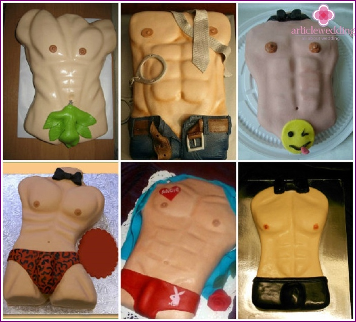 Cake in the form of a male figure for a bachelorette party