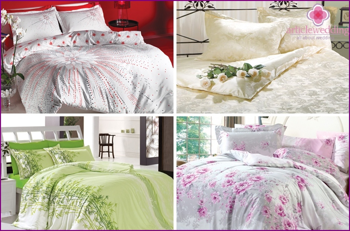 Wedding bed linen