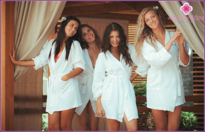 Health bachelorette party at the spa