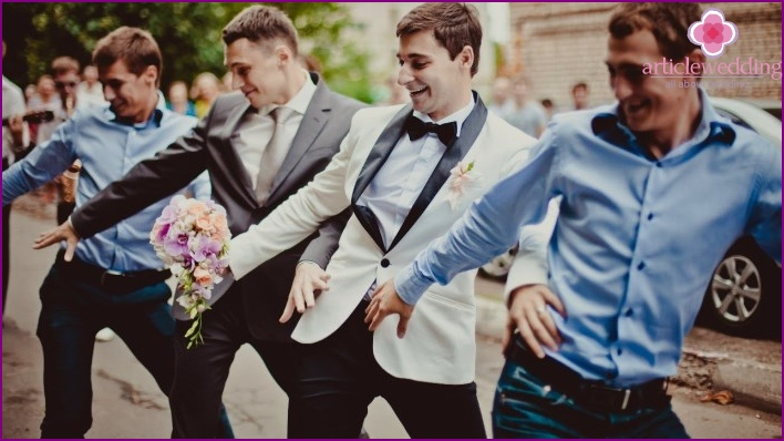 Men dancing at a wedding