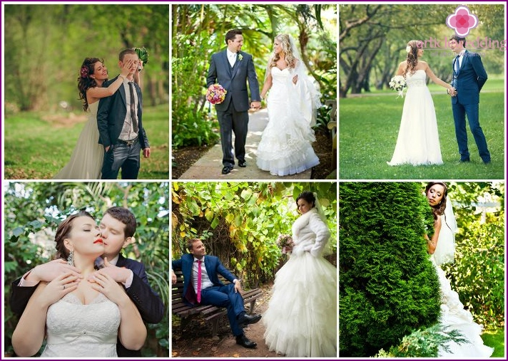Moscow Botanical Garden - a great place for a wedding photo shoot