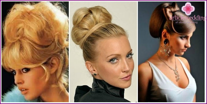 Hairstyle Babette - choice fashionistas for a bachelorette party