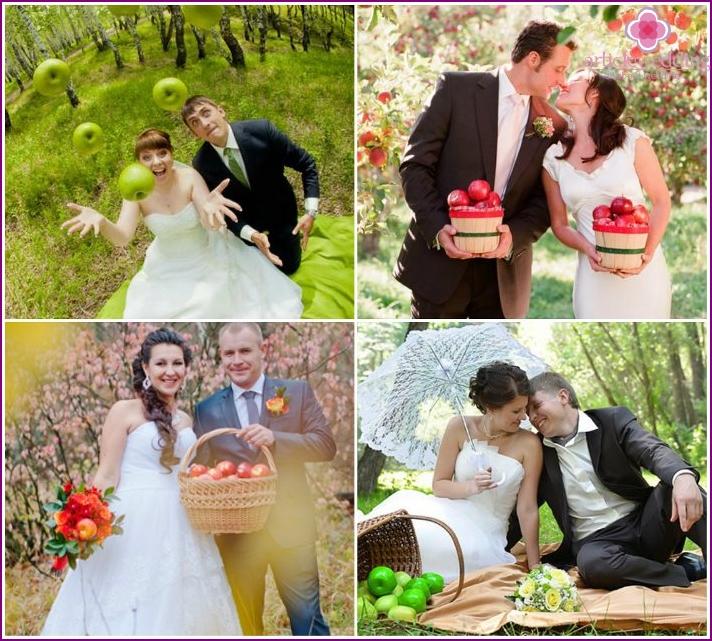 Honeymoon Pictures of apples in the woods