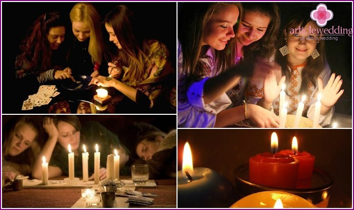 Divination using candles