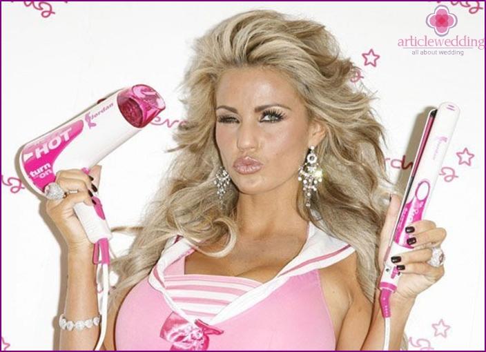 Menu for bachelorette party Barbie