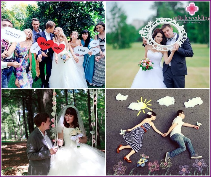 Examples of original wedding photos