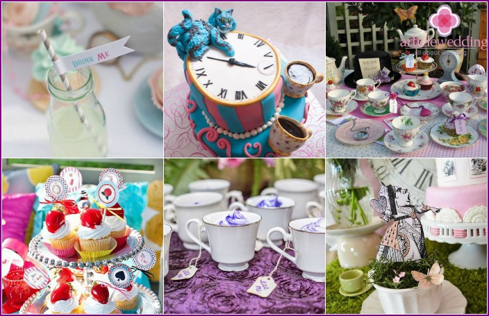 Tea drinking at a wedding
