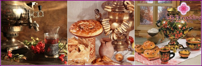 Russian tea bar decoration