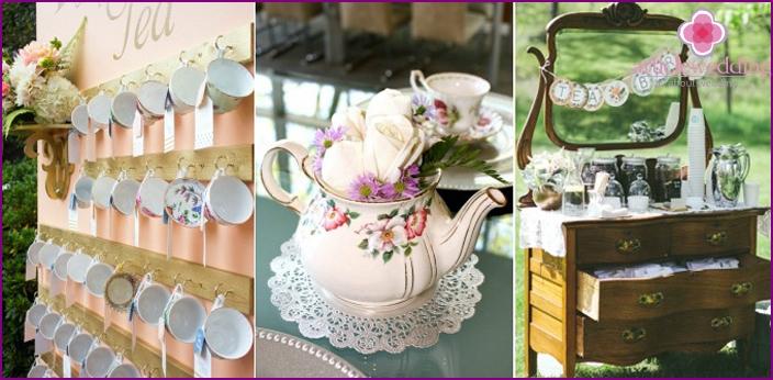 Tee bar bei einer hochzeit in englisch russisch oder for Dekoration hochzeit russisch