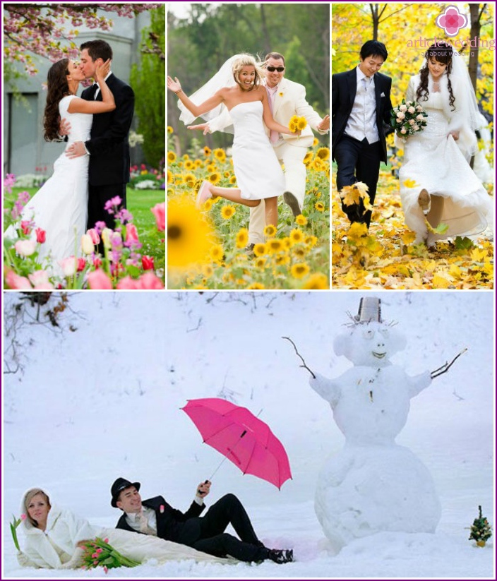 Wedding photography at different times of the year