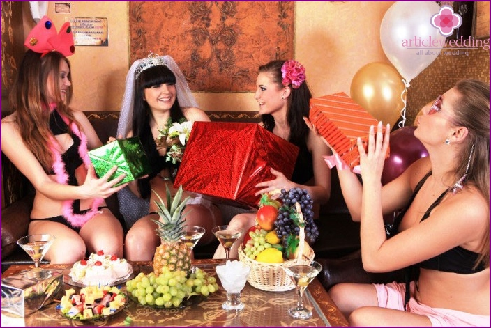 Prizes and gifts for the bachelorette party at Spa