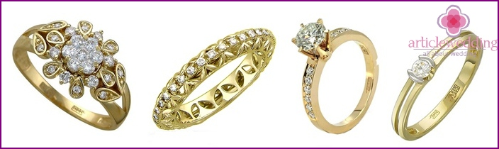 Gold with diamonds