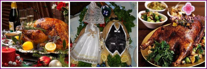 Wedding goose tartare dressed
