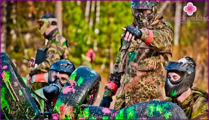 The game of paintball